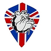 5 Sets of 3 Dart Flights - MK16 - Union Jack British Flag Kite Shape Poly Super Metronic Flights