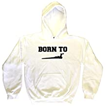 Born to Drag Racing Dragster Silhouette Men's Hoodie Sweat Shirt