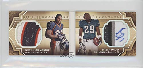 Knowshon Moreno; LeSean McCoy #39/50 (Football Card) 2009 Upper Deck Exquisite Collection - Rookie Bookmarks - Gold (Gold Collection Bookmarks)