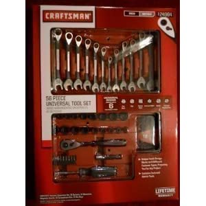 Craftsman 56 Piece Universal Tool Set Wrench and Sockets, Drivers