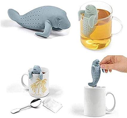 s/ü/ßer tierischer Lazy Tea Infuser Wird in Teebereiter verwendet hergestellt aus Silikon Faneli Teesieb-Filtersilikon ohne BPA