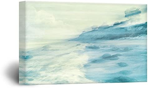 Watercolor Style Landscape of a Coast