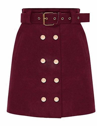 GSP-Damen Röcke - Sexy / Übergröße Übers Knie Baumwolle Mikro-elastisch