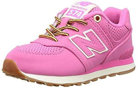 New Balance Girls' KL574V1 Sneakers, Pink, 5 M US Big (Balance Runner)