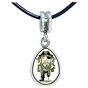 Chicforest Silver Plated Halloween pirate Photo Angel Tears Charm Beads Fits Pandora Bracelets