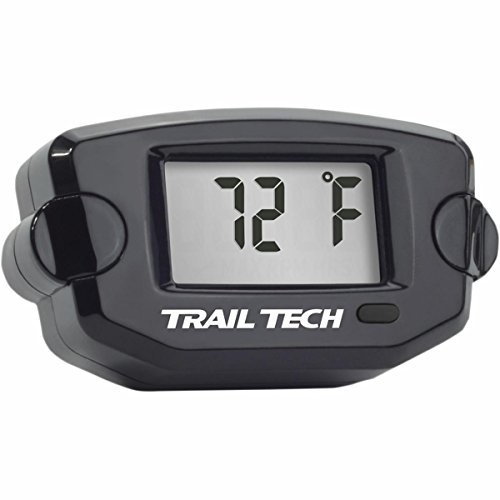 Trail Tech Surface Mount Universal Temperature Meter w/ Spark Plug Sensor for Air Cooled Engine - 10mm - Black 742ET1