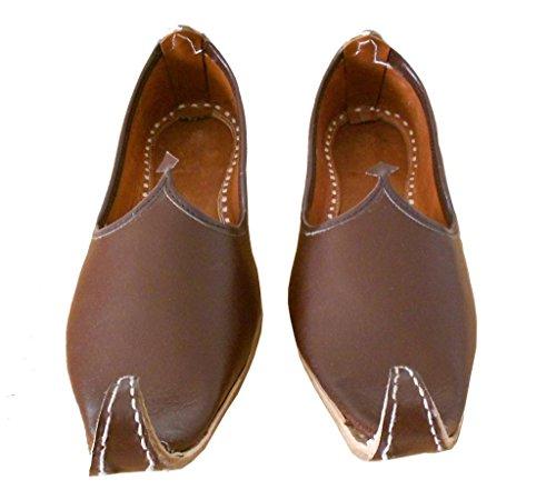 indios Marrón Zapatos para de Kalra de Creations tradicionales piel boda hombre SOqIP