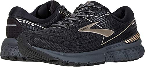 Brooks Women's Adrenaline GTS 19 Black/Champagne 6 B US (Womens Brooks Adrenaline Gts)