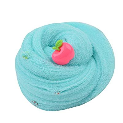 ANDLUV Fluffy Slime, Fruit Putty Soft Scented Stretchy Cloud Slime, Super Soft and Non-Sticky Butter Slime, DIY Slime Kit for Girls and Boy Stress Relief Toy (Blue): Toys & Games
