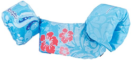 (Stearns Kids Life Vest| Puddle Jumper Kids Life Jacket|30 to 50 Pounds, Blue Flower)
