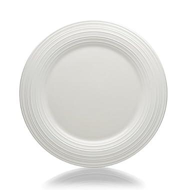Mikasa Swirl White Round Serving Platter, 14 Inch