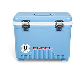 Engel Coolers 13Qt Lightweight, Water Tight Cooler Drybox & Lunch Box, Blue