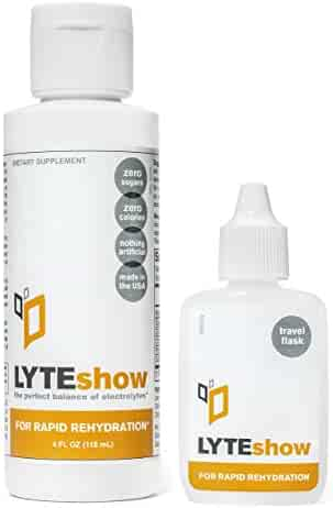 LyteShow - Electrolyte Concentrate for Rapid Rehydration - NO Sugars, NO Additives - 40 Servings (With Magnesium, Potassium, Zinc)