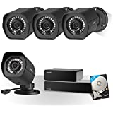 Zmodo Full HD 1080p Professional Home and Business 8CH Surveillance Camera System w/sPoE Repeater, 4 x 2.0 Megapixel IP Wired Security Camera and 1TB Hard Drive, Flexible Extension Easy Installation