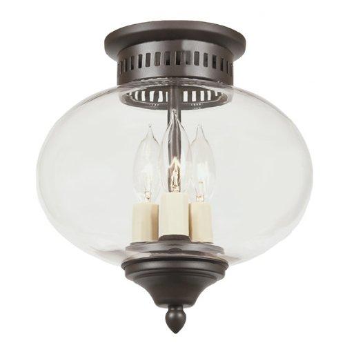 JVI Designs 1173-08 3-Light Flush Mount Onion Lantern, Medium (Medium Onion Flush)
