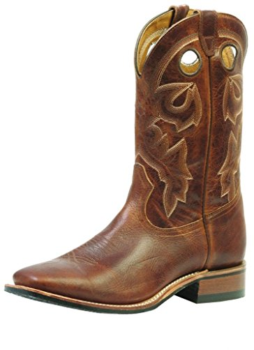 Bottes américaines - bottes western BO-3024-65-EEE (pied fort) - Homme - Marron