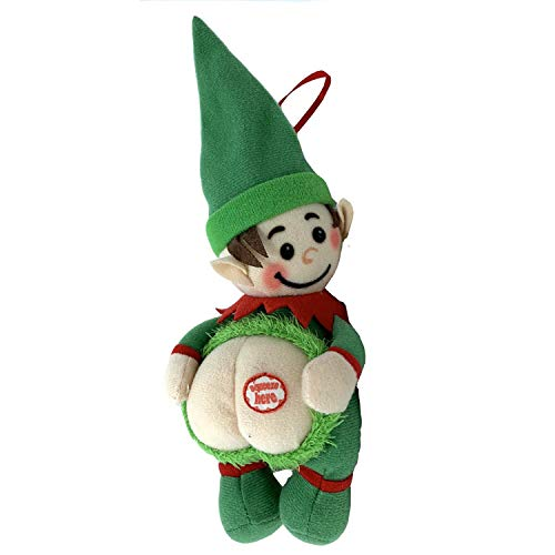 Farting Elf Christmas Ornaments-Funny Christmas Tree Decoration-Stocking Stuffer-Naughty But Nice Gag Gift-He Farts The Song Deck The Halls When You Press His Body-Measures 6x7 Inches (Christmas Decorations Wholesale Tree)