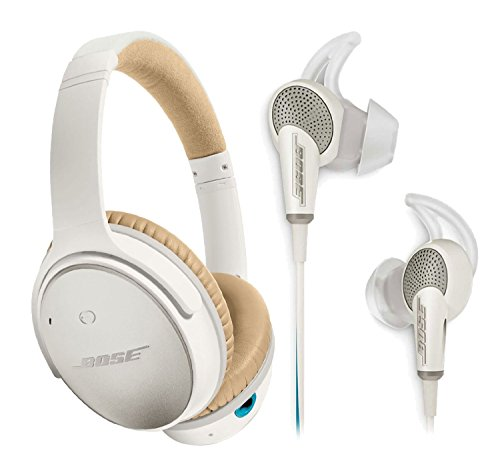 f41ae24d115 Bose QuietComfort 25 & 20 Bundle Noise Cancelling Headphones for Apple  devices – White