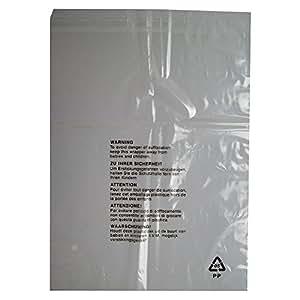 25 bolsas de embalaje con advertencia de seguridad, cierre ...