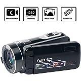 "Digital Video Camera Camcorder SEREE Full HD 1080p Vlog Camera 24.0MP 18x Digital Zoom 3.0"" Rotation Screen Night Vision Camcorders"