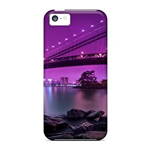 Slim Fit Tpu Protector Shock Absorbent Bumper Manhattan Bridge New York City Case For Iphone 5c by lolosakes