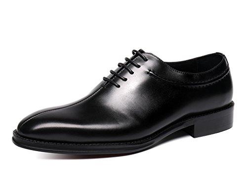Zapatos Clásicos de Piel para Hombre Zapatos de cuero para hombres Ropa formal Zapatos de boda de negocios de estilo británico de punta estrecha hechos a mano ( Color : Marrón , Tamaño : EU38/UK5.5 ) Negro