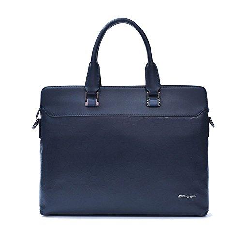 FCZERO HB10067 Genuine Leather Handbag for Men,Luxurious & High-Grade Zipper Business Bags,Navy