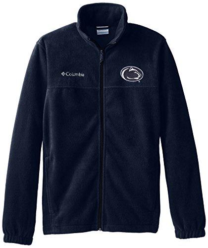 Fleece Zip Mens Flanker Full - NCAA Penn State Nittany Lions Men's Collegiate Flanker II Full Zip Fleece Sweater, Collegiate Navy, Medium