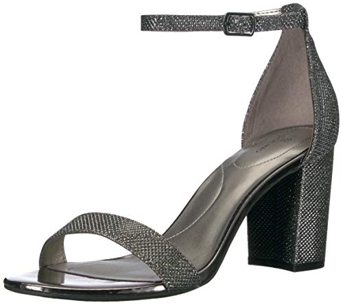 Bandolino Women's Armory Heeled Sandal, Gunmetal, 7 Medium US
