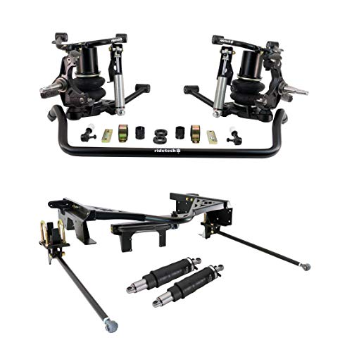 NEW RIDETECH FRONT AIR SUSPENSION SYSTEM WITH COOLRIDE SHOCKS,CONTROL ARMS,SWAY BAR,DROP SPINDLES,REAR WISHBONE WITH C-NOTCHES & SHOCKWAVES,COMPATIBLE WITH 1988-1998 CHEVROLET & GMC C1500 TRUCKS