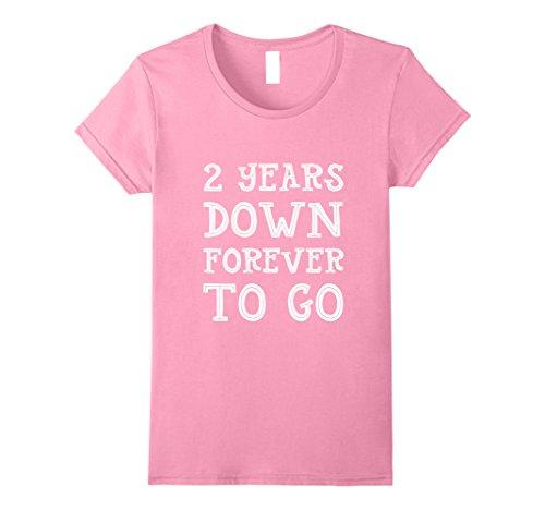 Two Year Wedding Anniversary Gift: Womens 2nd Wedding Anniversary Gift 2 Years Down Forever