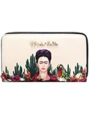 Frida Kahlo Cactus Collection Around Zip Wallet with Wristlet