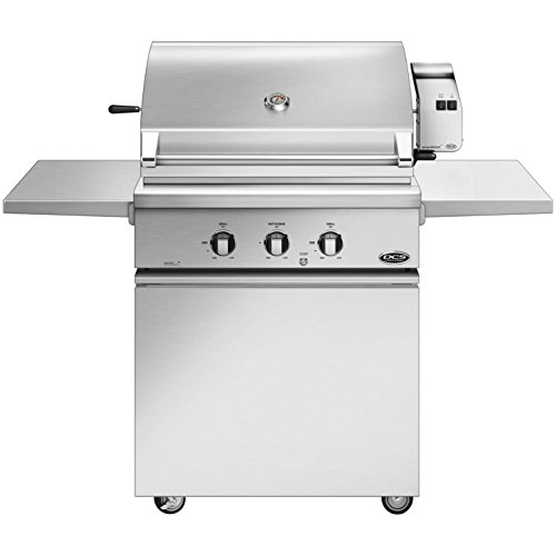 (DCS Series 7 Traditional 30-inch Natural Gas Grill With Rotisserie On Css Cart With Two Side Shelves - Bh1-30r-n)