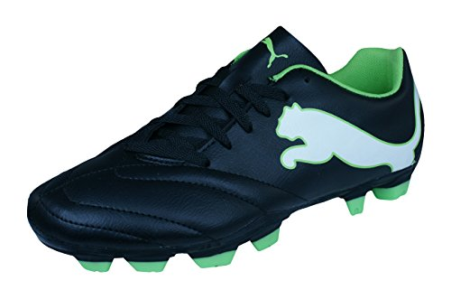 PUMA Velize FG JR Boys Soccer Boots/Cleats-Black-6.5