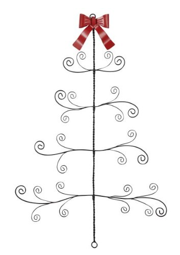 Twisted Metal Wire Christmas Tree Card Photo Holder Wall Decor