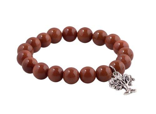 MBOX Buddha Energy Pendent Bracelet (Gold Sand & Sliver Wishing Tree)
