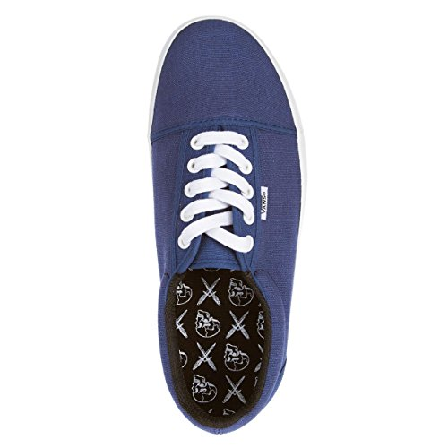 Sneakers Vans Canvas 0kxola0 Fashion Off Wall Shoes Blue Men New Box Style Denim the Kook Size Unisex XqdFc6