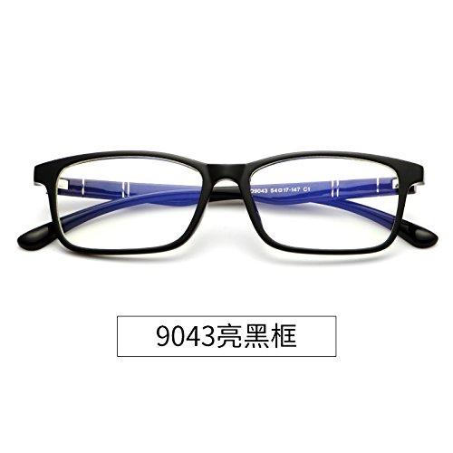 título 9043 móvil caja Equipo azul Bright a 9043 la y negra Black sin un gafas Box radiación KOMNY Gafas brillante resistente w7T56x15q