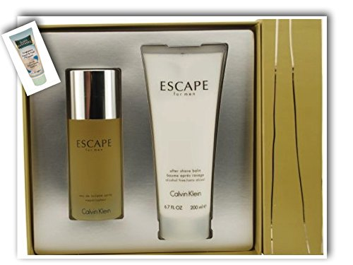 [Bella Bella Boutique] Escapē Men Gift Set 3.4 oz Eau De Toilette Spray + 6.7 oz After Shave Balm+ Free Hand Cream - Escape Men After Shave