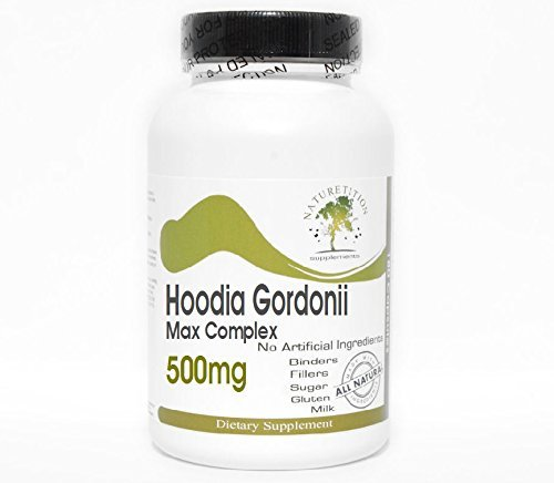 Hoodia Gordonii Max Complex 500mg ~ 90 Capsules - No Additives ~ Naturetition Supplements by PureControl (Hoodia Complex)