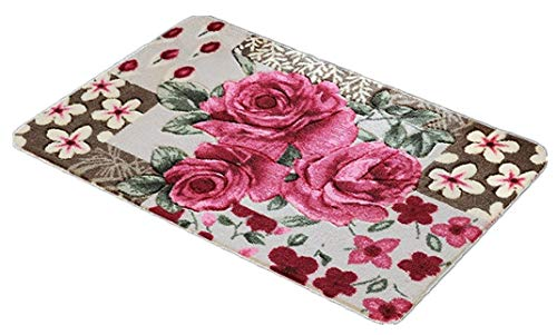 Stay Young Shaggy Area Rugs Bathroom Rugs Rugs for Bedroom for Living Room Carpet Door Mat Floor Mat Bath Mat Welcome Mat Kitchen Mats Rugs (Pretty Rose Flowers) ()