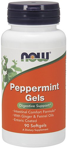 (NOW Supplements, Peppermint Gels, 90 Softgels)