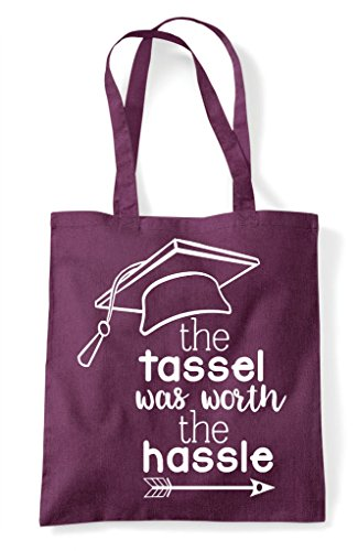Plum The Graduation Worth Was Shopper Bag Statement Tassel Hassle Tote AqwArzB4