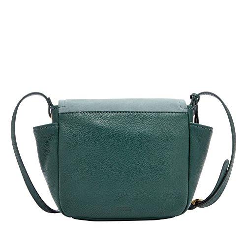 Fossil Damen Tasche Ava - Crossbody - Bolsos bandolera Mujer Verde (Alpine Green)