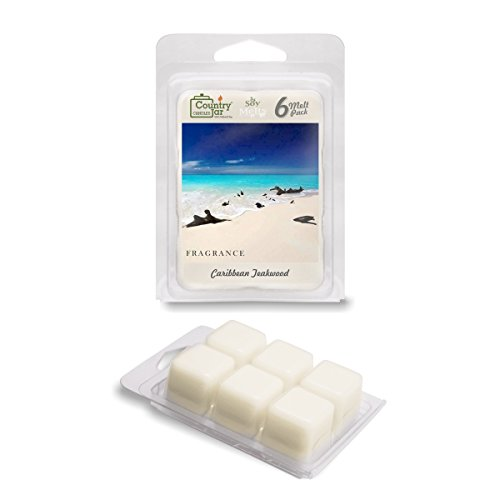Country Jar Caribbean Teakwood Soy Wax Melts/Tarts (2.75 oz. 6-Cube Pack) Spring Pick-3 Sale! See ()