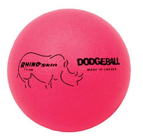 6'' Rhino Skin® Neon Pink Dodge Balls - Set of 6 by Champion Sports