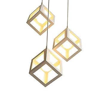 Lustre Suspension En Forme De Cube De Type Industrielle Style