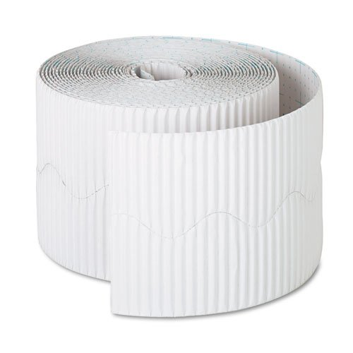 PAC37016 - Pacon Bordette Decorative Border, White - 2.25 Inch x 50 Ft