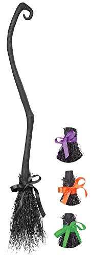 Costume Broom (California Costumes Women's Witch's Broom, Black, One)