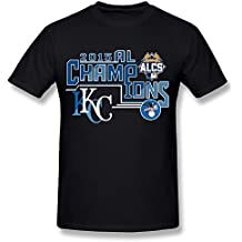 SPOW Men's Kansas City Royals 2015 American League Champions T-Shirt Black